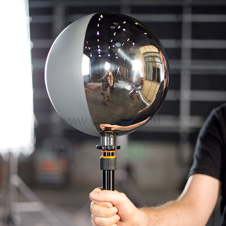 25cm half mirror half grey ball